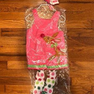 NWT- baby girl's mudpie reindeer dress w/leggings